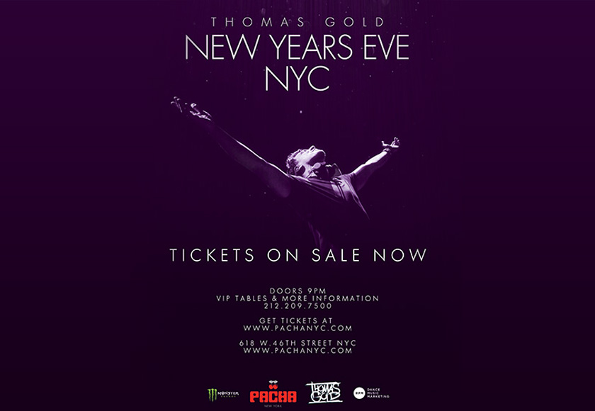 Thomas Gold New Years Eve NYC