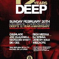 12 Years of Deep! tickets