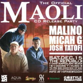 Maoli CD Release Party: Main Image