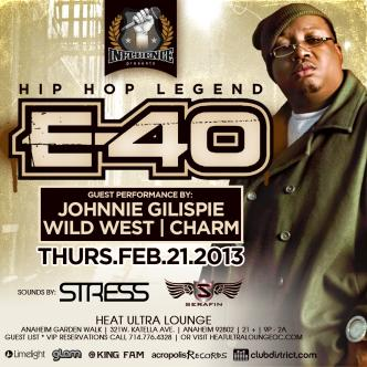 Influence Thursdays with E-40: Main Image