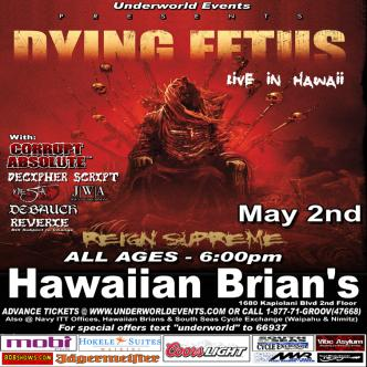 Dying Fetus in Hawaii: Main Image