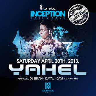Inception presents Yahel: Main Image