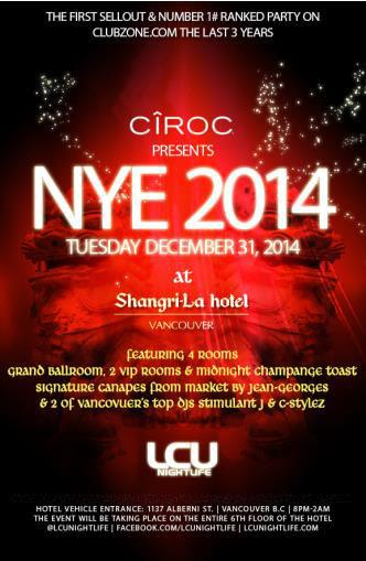 CIROC PRESENTS THE SHANGRI-LA NYE GALA (FINAL 50 TICKETS)
