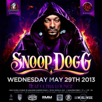 Snoop Dogg @ Heat Ultra Lounge: Main Image
