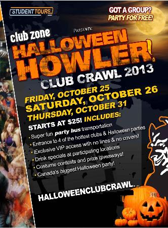 Kingston Halloween Club Crawl