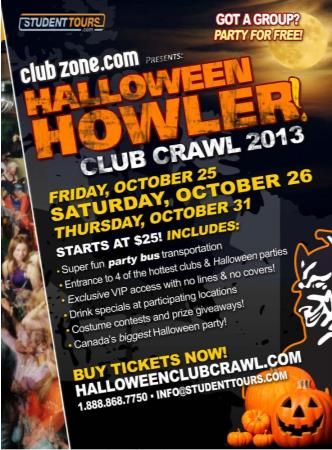Windsor Halloween Club Crawl