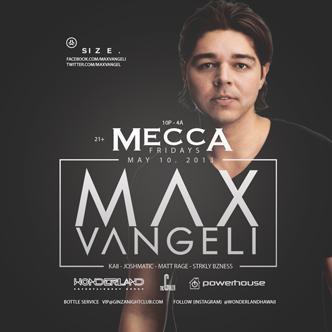 MAX VANGELI- Mecca Fridays: Main Image