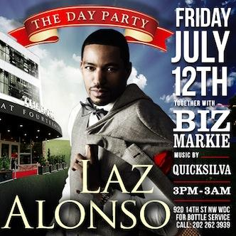 Laz Alonso |Paint the town RED: Main Image