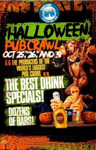 Hollywood Halloween Pub Crawl