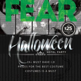 FEAR HALLOWEEN HOTEL PARTY lower ball room