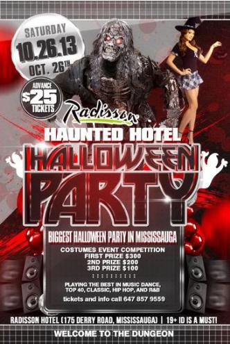 RADISSON HAUNTED HOTEL PARTY