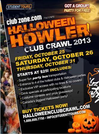 Edmonton Halloween Club Crawl