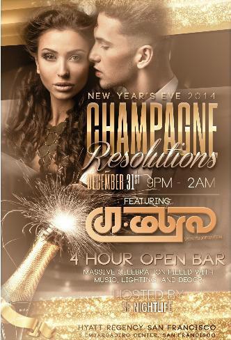 Champagne Resolutions NYE 2014