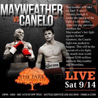 Mayweather vs Canelo LIVE: Main Image