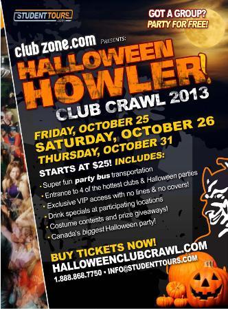 Vancouver Halloween Club Crawl