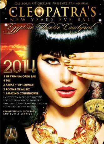 Cleopatras Hollywood NYE 2014