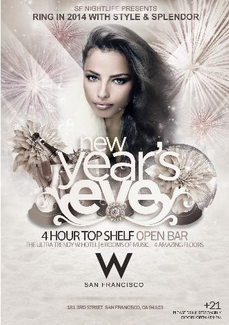 NYE 2014 at W SF