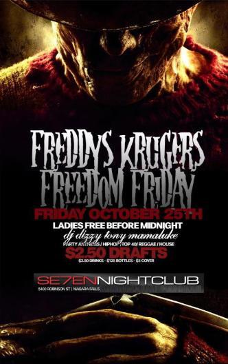 Freddys Kruger Friday Niagara
