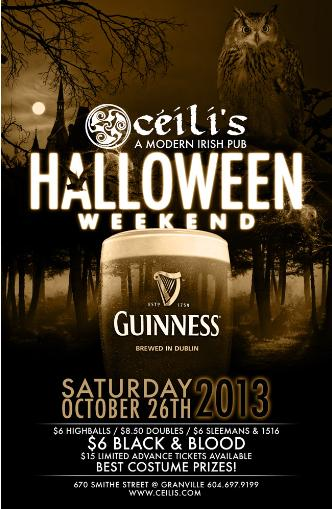 Halloween Saturday at Ceili's
