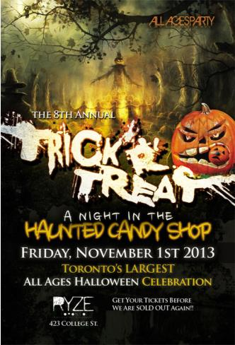 TRICKrTREAT All Ages HALLOWEEN