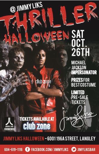 THRILLER Halloween @Jimmy Liks