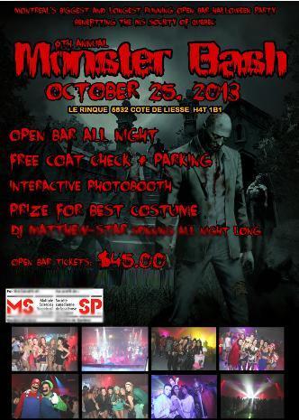 Monster Bash Open Bar 2013