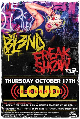 BL3ND - FREAK SHOW TOUR: Main Image