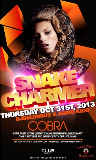 Snake Charmer-Halloween Party