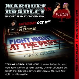 FIGHT NIGHT with Dj Crooked: Main Image