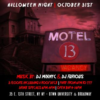 Motel 13 Halloween Party NYC