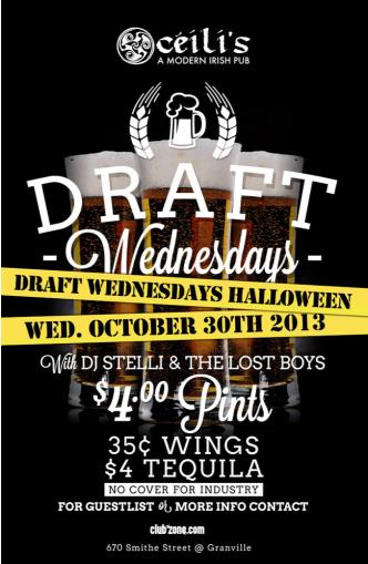 Draft Wednesdays Halloween