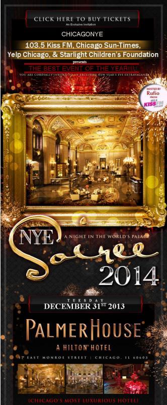 NYE 2014 w/ Yelp and Kiss FM