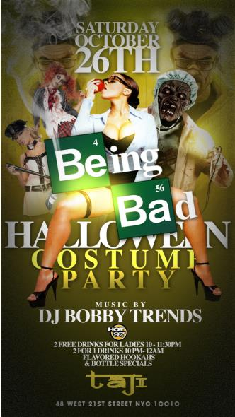 BEING BAD COSTUME PARTY