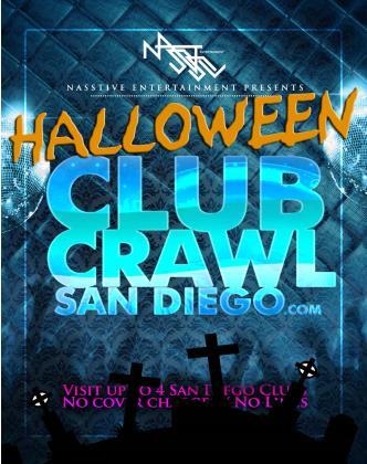 Halloween Club Crawl San Diego