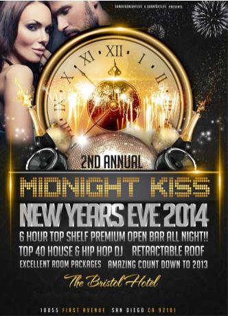 San Diego Midnight Kiss NYE