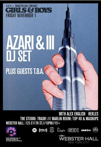 Girls & Boys with Azari & III