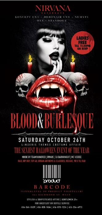 BLOOD & BURLESQUE HALLOWEEN