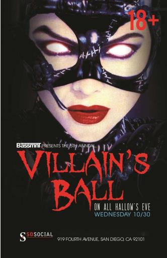 VILLAINS BALL 18+/21+ HALLOWEE