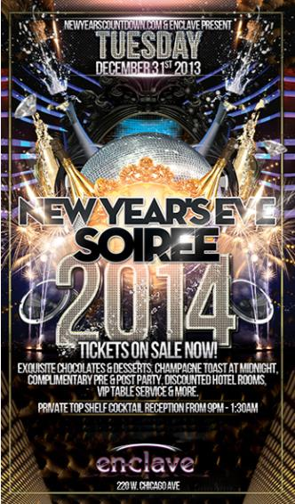 NYE 2014 - Enclave Chicago