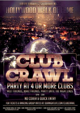 Club Crawl of Fame - Hollywood