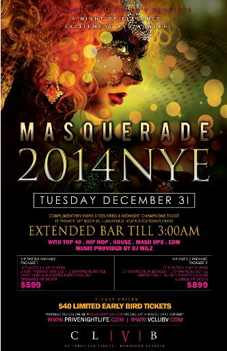 MASQUERADE 2014 inside Club V