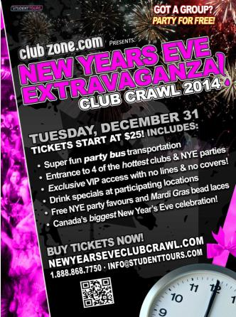 Montreal NYE Club Crawl 2014