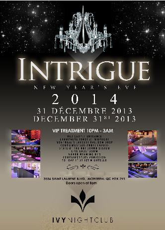 INTRIGUE 2014 - VIP TREATMENT
