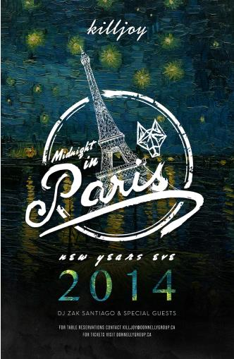 MIDNIGHT IN PARIS NYE 2014