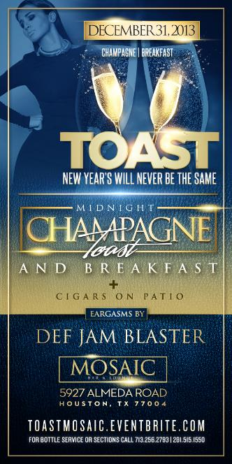 TOAST - NEW YEAR'S EVE AFFAIR
