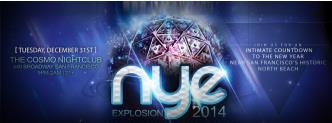 NYE EXplosion $65 5hr Open Bar