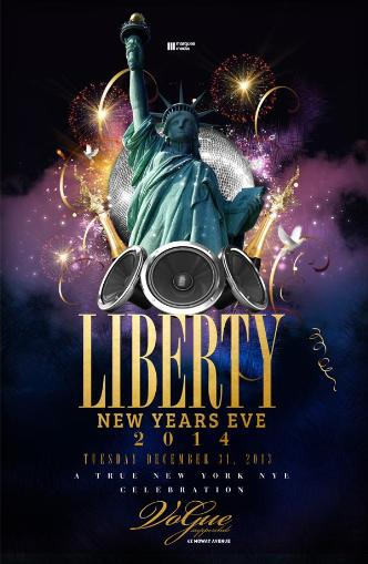 LIBERTY NEW YEARS EVE 2014