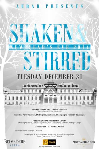 Shaken & Stirred NYE