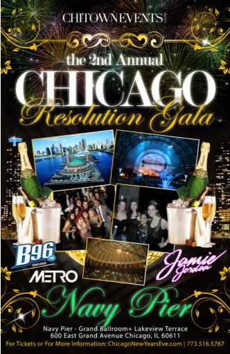 New Year's Eve Resolution Gala at the Chicago Grand Ballroom Navy Pier