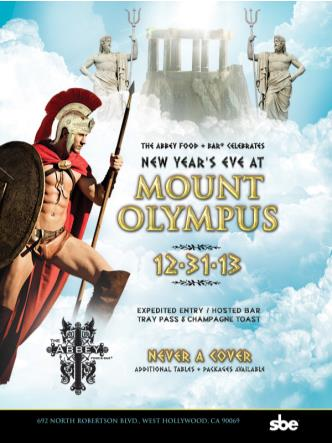 NYE @ Mount Olympus |The Abbey